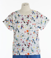 Scrub Med discount print scrub top I wanna be
