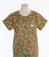 Scrub Med Womens Print Scrub Top Melody - Original Price: $31.00 - ALL SALES FINAL!
