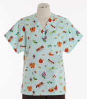 Scrub Med v-poc discount print scrub top creatures and critters