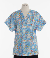 Scrub Med v-poc discount print scrub top cute to boot