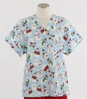 Scrub Med v-poc discount print scrub top Frosted Flakes