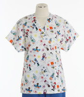 Scrub Med v-poc discount print scrub top I wanna be