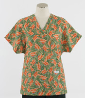 Scrub Med Womens Print V-Poc Scrub Top Melody - Original Price $33 - ALL SALES FINAL!