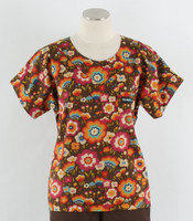 Scrub Med womens print scrub top flying colors