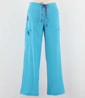 Carhartt Womens Tall Cross Flex Boot Cut Scrub Pants Cyan