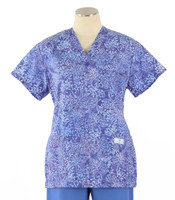 Scrub Med womens v-neck print scrub top on sale pandora
