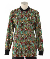 Scrub Med womens crew neck lab jacket reindeer games
