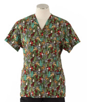Scrub Med womens v-poc print scrub top on sale reindeer games