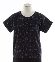 Scrub Med discount print scrub top starry night