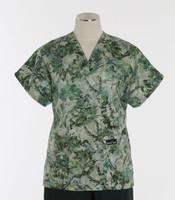 Scrub Med v-poc discount print scrub top emerald isle