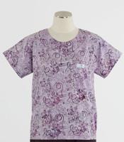 Scrub Med Womens Print Scrub Top Sorbet - Original Price: $31.00 - ALL SALES FINAL!