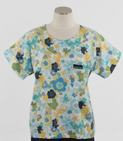 Scrub Med discount print scrub top wing it