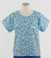 Scrub Med discount print scrub top forget me not