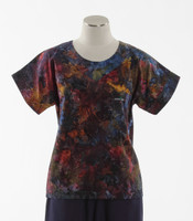 Scrub Med Womens Print Scrub Top Gingko - Original Price: $31.00 - ALL SALES FINAL!