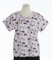 scrub med discount print scrub top watercolors