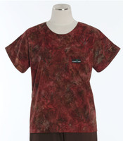 scrub med discount print scrub top forest park