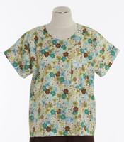 Scrub Med Womens Print Scrub Top Sunshine - Original Price: $31.00 - ALL SALES FINAL!