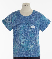 Scrub Med Womens Print Scrub Top Autumn Blues - Original Price: $31.00 - ALL SALES FINAL!