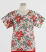 Scrub Med discount print scrub top garden party