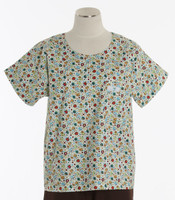 Scrub Med discount print scrub top tiny bubbles