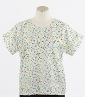 Scrub Med Womens Print Scrub Top Dilly Dally - Original Price: $31.00 - ALL SALES FINAL!