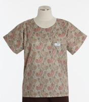 Scrub Med Womens Print Scrub Top Bombay - Original Price: $31.00 - ALL SALES FINAL!