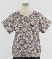 Scrub Med discount print scrub top lilac lotus