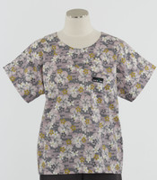 Scrub Med Womens Print Scrub Top Lilac Lotus - Original Price: $31.00 - ALL SALES FINAL!