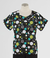 Scrub Med Womens Print Scrub Top Hoopla Dots - Original Price: $31.00 - ALL SALES FINAL!