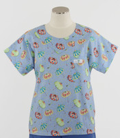 scrub med discount print scrub top april showers