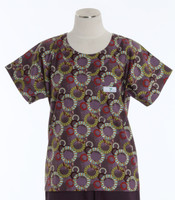 Scrub Med Womens Print Scrub Top Juggling Summer - Original Price: $31.00 - ALL SALES FINAL!