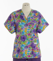 Scrub Med discount print scrub top monet