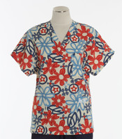 Scrub Med discount print scrub top give peace a chance