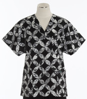 Scrub Med v-poc discount print scrub top sun and moon
