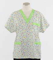 Scrub Med v-poc discount print scrub top dilly dally