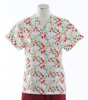 Scrub Med Womens Print V-Poc Scrub Top Mittens - Original Price $33 - ALL SALES FINAL!