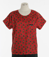 Scrub Med discount print scrub top o christmas tree