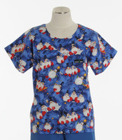 Scrub Med Womens Print Scrub Top Merry Men - Original Price: $31.00 - ALL SALES FINAL!