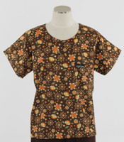 Scrub Med Womens Print Scrub Top Grand Finale - Original Price: $31.00 - ALL SALES FINAL!
