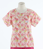 Scrub Med Womens Print Scrub Top Daisy Chain - Original Price: $31.00 - ALL SALES FINAL!