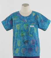 Scrub Med Womens Print Scrub Top Summertime - Original Price: $31.00 - ALL SALES FINAL!