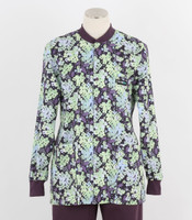 Scrub Med Womens Print Crew Neck Lab Jacket Shadow - Original Price $43 - ALL SALES FINAL!