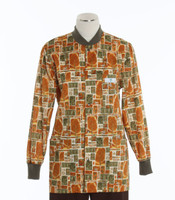 Scrub Med Womens Print Crew Neck Lab Jacket Parkside - Original Price $43 - ALL SALES FINAL!