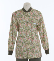 Scrub Med Womens Print Crew Neck Lab Jacket Morning Glory - Original Price $43 - ALL SALES FINAL!