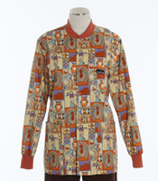 Scrub Med discount print scrub jacket giving thanks