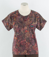 Scrub Med Womens Print Scrub Top Aubergine - Original Price: $31.00 - ALL SALES FINAL!