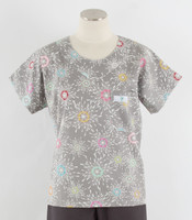 Scrub Med womens discount print scrub top city lights