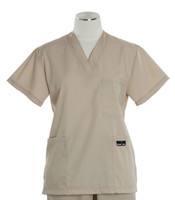 Scrub Med womens cheap v-neck scrub top putty (scrublite)