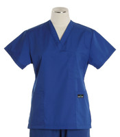 Scrub Med womens cheap v-neck scrub top pacific blue (scrublite)