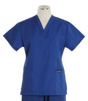 Scrub Med womens cheap v-neck scrub top pacific blue (scrublite)